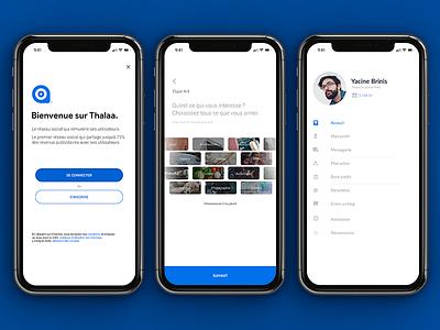 Thalaa - Signup iphonex app social iphone user login interface ui sign up