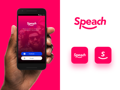 Speach app login teleprompter mobile android ios identity logo ux ui app