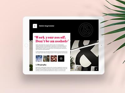 Bio page app modern bio detail webdesign user interface ux ui