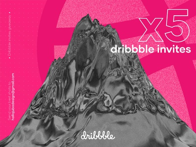 5 Dribbble Invites Giveaway 3d abstract illustration dribbble invitation dribbble dribbble invite giveaway dribbble best shot dribbble invites