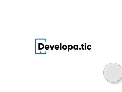 Devleopatic Logo Design Concept icon typography minimalist branding agency website website animation logodesign logo