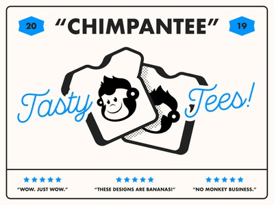 Chimpantee Label food bread packaging brand lockup label chimpanzee monkey logo typography type branding design vector illustrator illustration