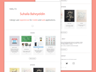 New Website website portfolio simple minimal flat clean new wip design work resume art