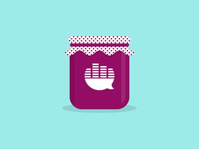 Jam Jar illustration strawberry purple jar icon blueberry music jam