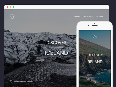 Travel Guide - Landing Page dailyui mobile illustration ui daily minimal clean image icon landing travel