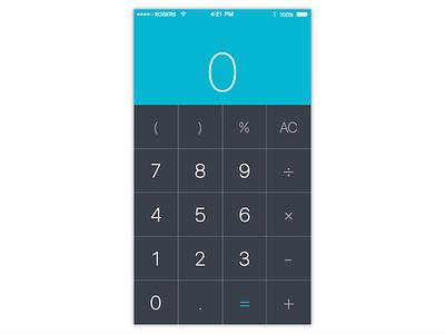 Calculator simple numbers ui 004 mobile clean minimal calculator dailyui