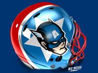 Captain America Football Helmet