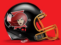 Black Widow Team Mascot Helmet