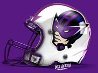 Hawkeye Mascot Football Helmet