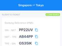 Multi PNR - flight itinerary by AR Wasil on Dribbble