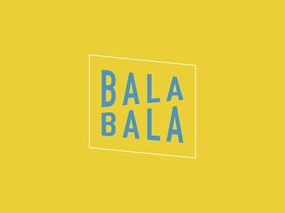 Bala Bala branding design branding logo yellow