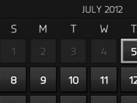 Calendar (noir)