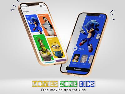 Movies Zone Kids - free movies app for kids adobexd app design kids uidesign uxdesign