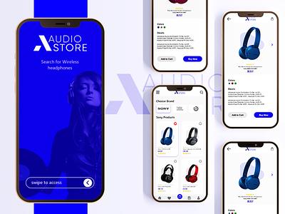 UI/UX Design E-Commerce App-AudioStore adobexd app design music app uxdesign uxui