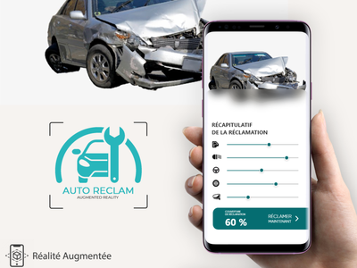 UX/UI Design App Réclamation d'assurance avec AR vr design adobe xd uxdesign car app