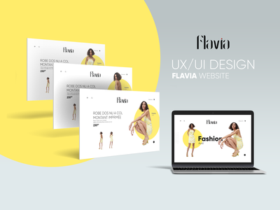 UX/UI Design - FLAVIA Fashion Site Web maquette webdesign fashion app uidesign uxdesign uxui