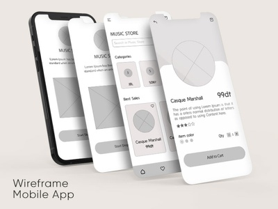 Wireframe Mobile App