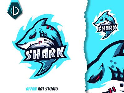 shark logo design esport predator logotype fish modern shark 3d motion graphics graphic design ui vector design logo logodesign illustrator illustration branding brand identity animation