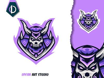 samurai skull logo design modern jepang samurai skull 3d motion graphics graphic design ui vector design logodesign logo illustrator illustration branding brand identity animation