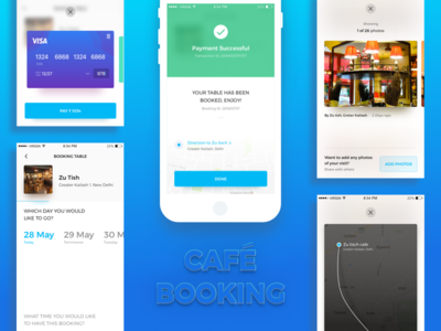 Cafe Booking- other screens