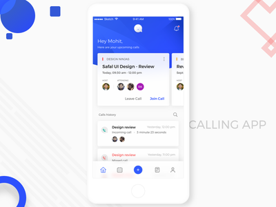 Conference calling app cleandesign ios design ux ui app calling conference