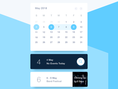 Schedule - Day 071 071 event app card blue calendar dailyui schedule