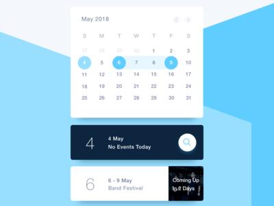 Schedule - Day 071 071 event app card blue calendar dailyui schedule