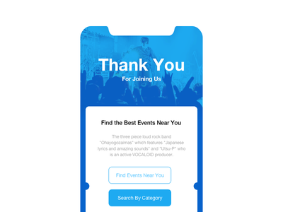 Thank You card app dailyui you thank