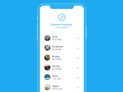 Itinerary dailyui dates trip app vacation itinerary