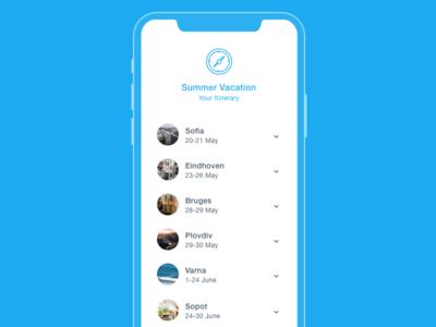Itinerary dailyui dates trip app vacation itinerary