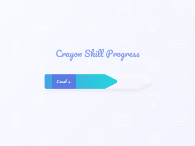 Progress Bar level illustration drawing skill crayon 086 day bar progress dailyui gradient