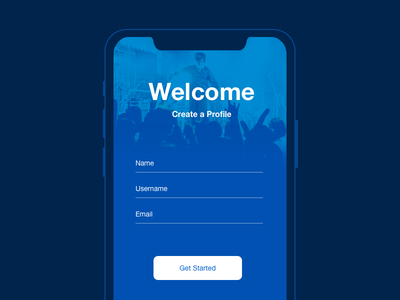 Create New dailyui app welcome profile 090 day new create