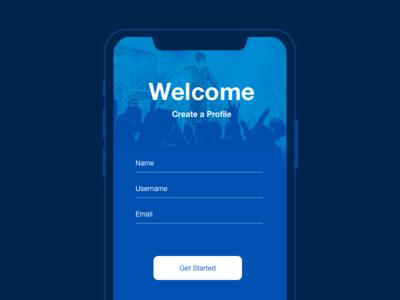 Create New dailyui app welcome profile 090 day new create