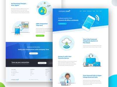 Phone Software Company Design illustration cloud blue gradient design app web software company phone