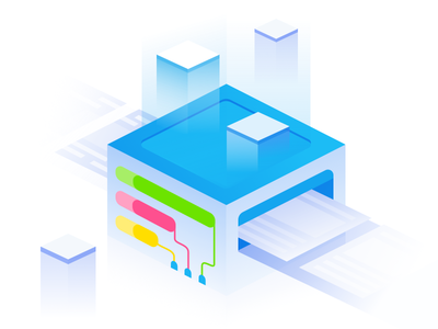 Bit Machine clean monitoring gradient asymmetric shifters shift illustration machine bit