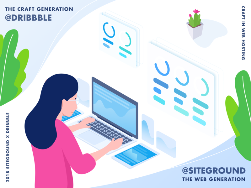 The Craft Generation hosting host craft web illustration