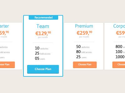 Pricing table, free PSD pricing table psd freebie flatdesign flat