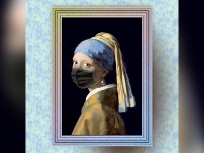 Mask Me I m Famous - Girl with a Pearl Earring erc-721 ethereum nftart nft