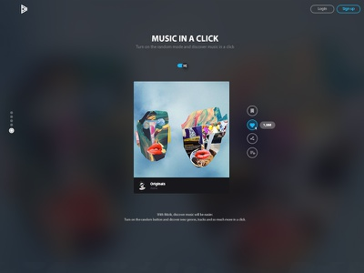 Music in a click music flat landing page bitcoin bitzik