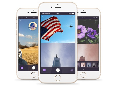 Photo Mobile App iphone flat windows phone android ios app mobile photo