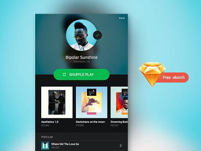 Spotify Profile - Freebie sketch fee freebie profile artist spotify music