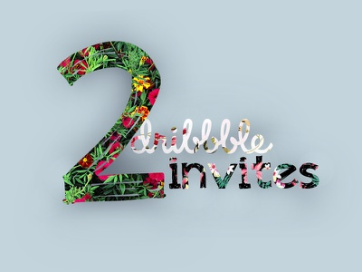 2 Dribbble Invites portfolio invitation invite dribbble