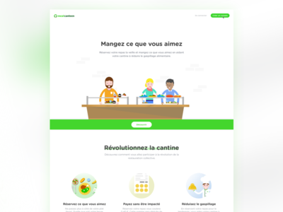 Meal Canteen landing page
