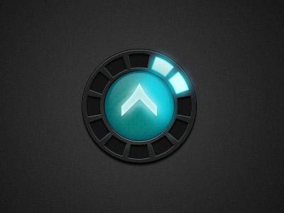 Game UI game game ui glow hud blue experience online rank exp rpg