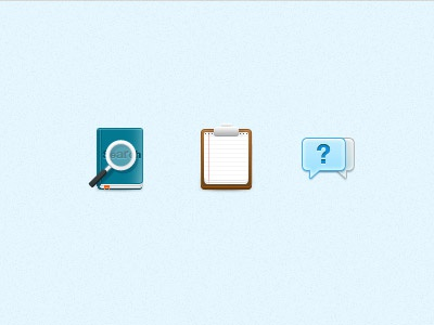 Few icons icons icon paper book help notebook search crisp note faq talk conversation