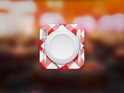 Catering Icon icon ios catering food fork spoon cafe iphone app cloth