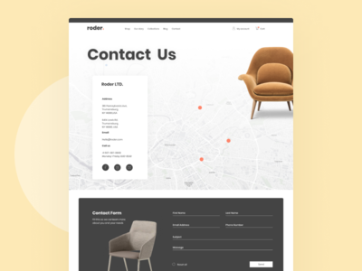 Website For Chair Company minimal ux branding typography design brand design ui