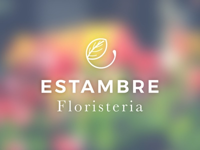 Estambre Logo color leaves flower logo flower branding logo brand
