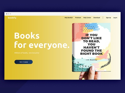 App concept for reading lovers