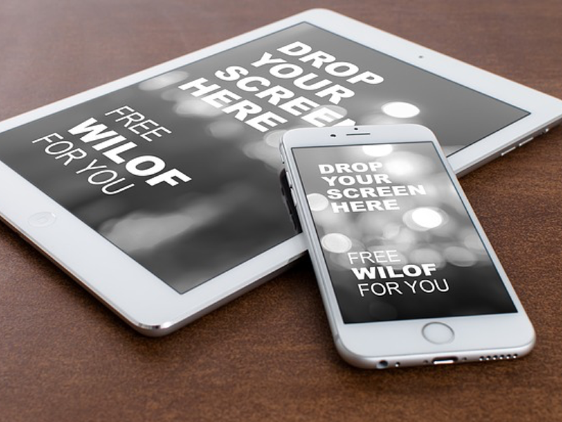 ipad and iphone 6 on the stone free mockup by william iven dribbble - Ipad And Iphone Mockup